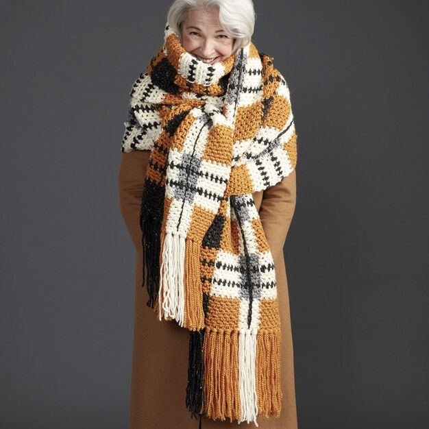 Crochet a Big Tartan Super Scarf ... It's Seriously Super-Sized!