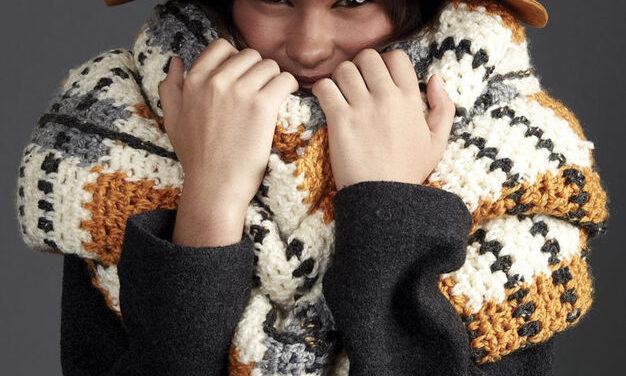 Crochet a Big Tartan Super Scarf … It's Seriously Super-Sized!