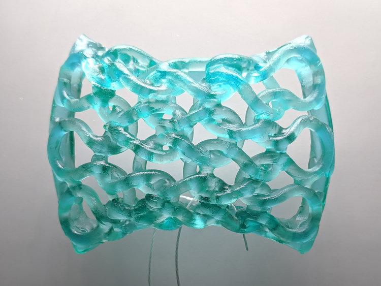 Wear a Piece of Carol Milne's Knitted-Glass!
