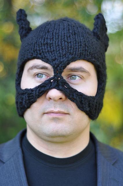 Knit a Batman-Inspired Bat Hat Balaclava!