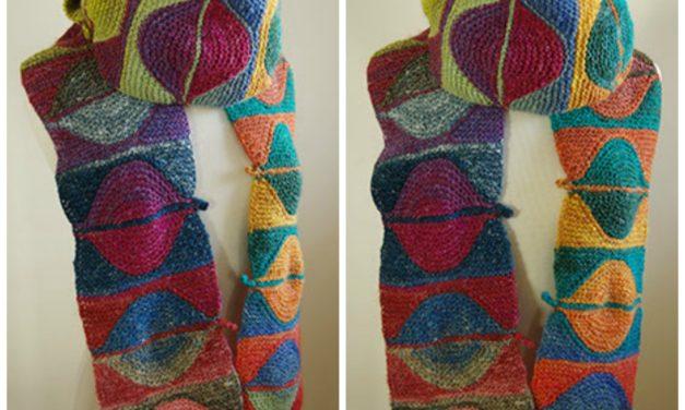 Knit a Fun Falling Leaves Scarf, Free Pattern Designed By Irina Poludnenko