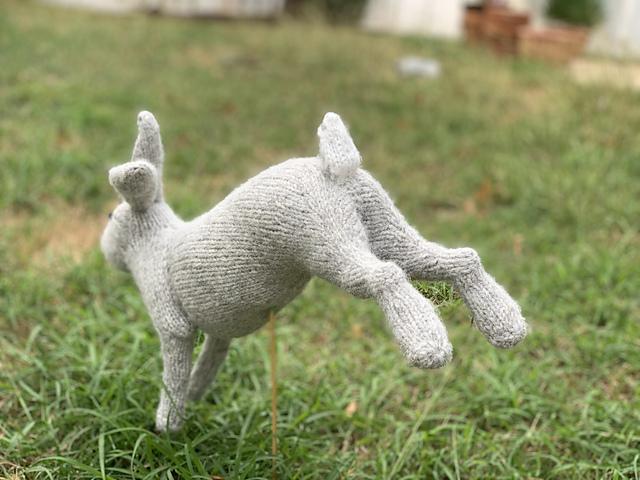 Knit a McGregor's Rabbit ... Look, It's In Mid-Stride! Designed By Sara Elizabeth Kellner
