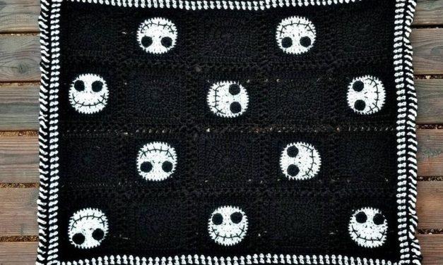 Crochet a Jack Skellington-Inspired Afghan For The Halloween Season!