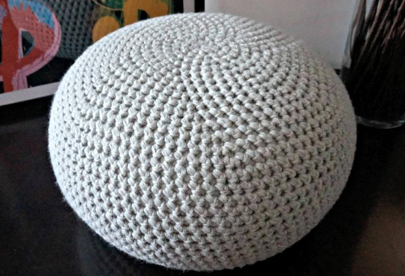 crochet pouf patterns by Tatiana of isWoolish
