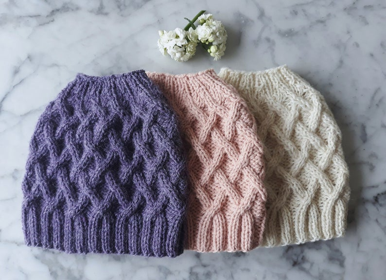 Knit Messy Bun Hats! #knitting