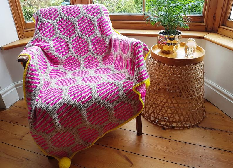 Crochet a Neon Fizz Throw … It's Bright and Beautiful!