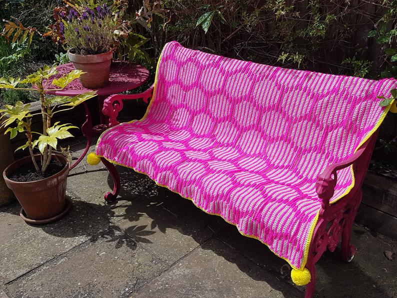Crochet a Neon Fizz Throw ... It's Bright and Beautiful!