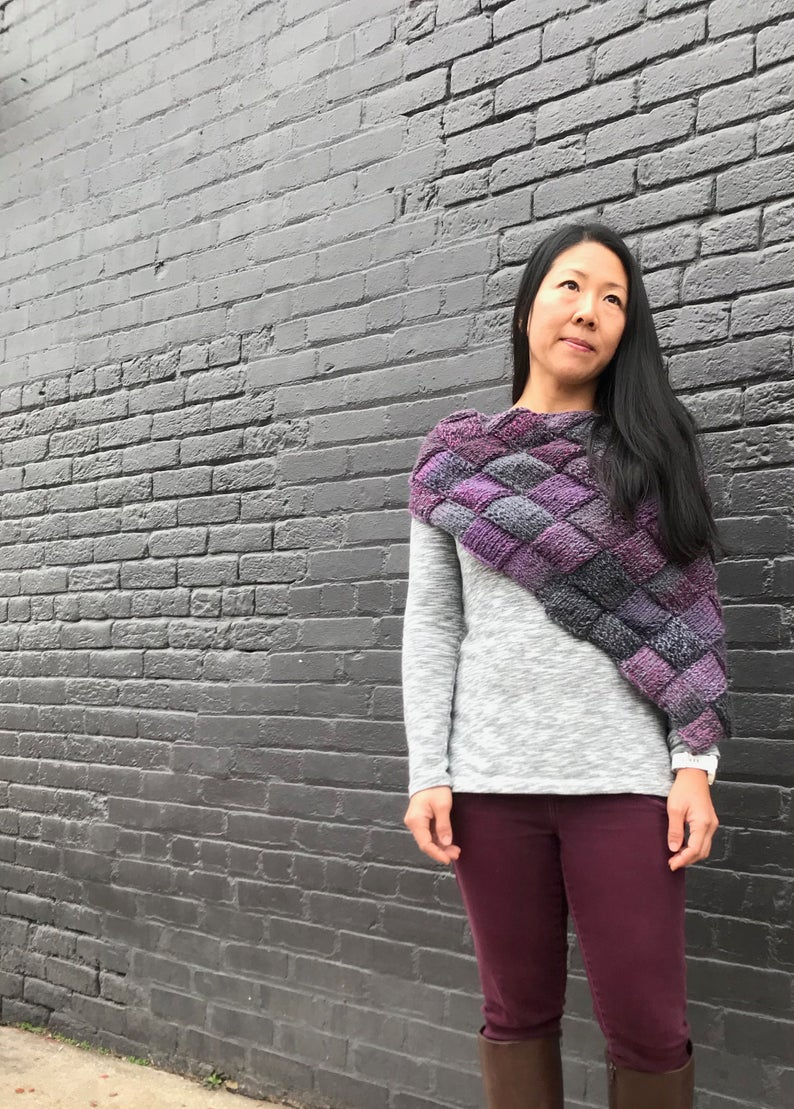Get the entrelac pattern #knitting