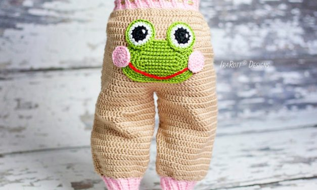 Crochet a Pair of Pistachio The Frog Pants For Baby!