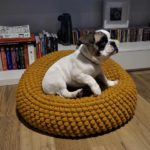 Your Puppy Called, He's Got a Fever and the Only Prescription is a Cute Crochet Pouf!