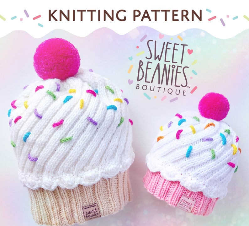 These Knit Cupcake Beanies and Messy Bun Hats Are Deeee-lightful!