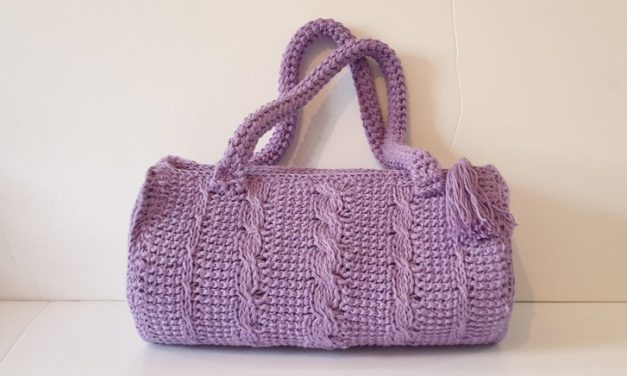 Must-Make! This Tunisian Crochet Cable Barrel Bag Is Beautiful!