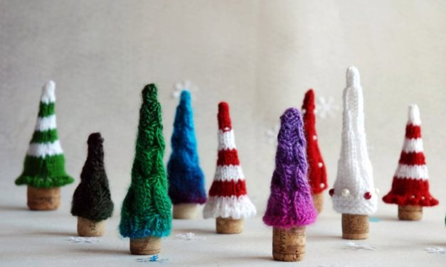 Knit a Forest of Tiny Trees For Christmas