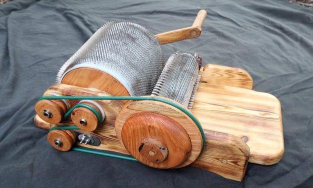 Clever Maker Fashions Awesome DIY Drum Carder For Wool-Loving Girlfriend
