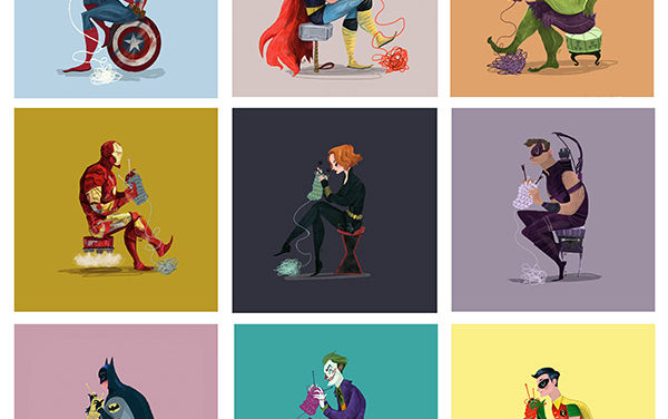In Karl James Mountford's World, Everyone Knits – Even Superheroes!