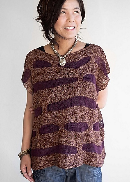 Knit a Unique Sweater, 'Ko-michi' Designed By Yumiko Alexander