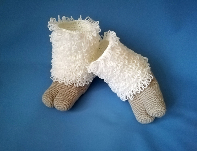 Crochet a Pair of Cozy Two-Toed Hoof Slippers … So Unusual and Unique