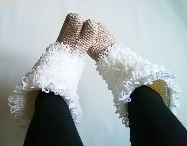 Crochet a Pair of Cozy Two-Toed Hoof Slippers ... So Unusual and Unique