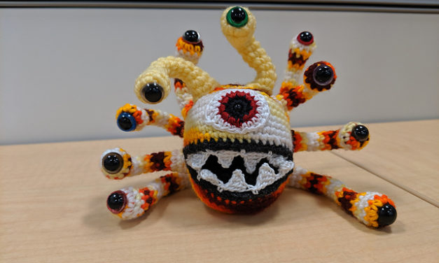 Free Beholder Pattern Designed By Knotty Critters