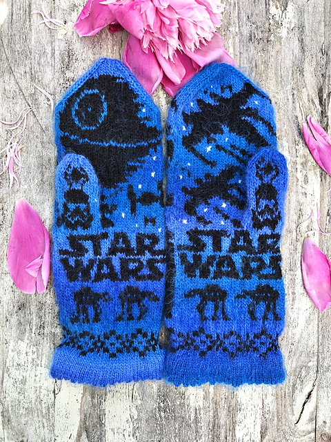 Knit a Pair of Star Wars-Inspired Mittens, Designed By Lotta Lundin - Two Designs To Choose From!
