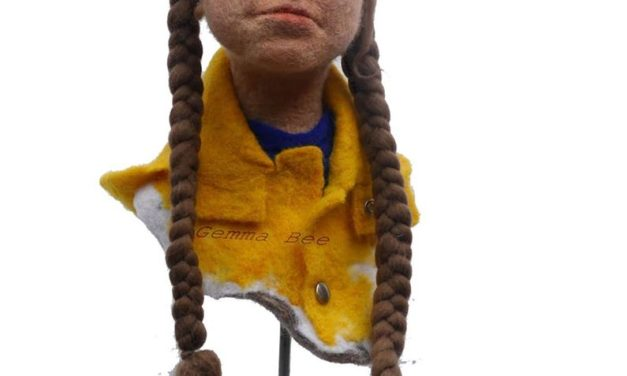 Gemma Bee Felted A Greta Thunberg, Climate Change Activist … This Is Soft Sculpture At Its Finest!