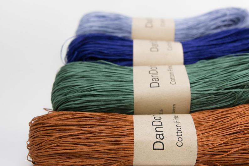 Cotton Fine Yarn, Light Fingering weight, by DanDoh, Yumiko Alexander