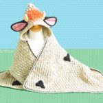 Crochet a Luna the Moo-Moo Cow Hooded Blanket … Makes a Great Baby Gift!