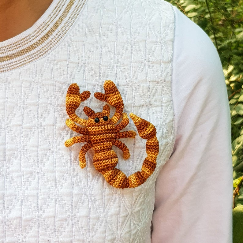 Crochet It! This Scorpion Brooch May Be The Unique Handmade Gift You're Looking For ...