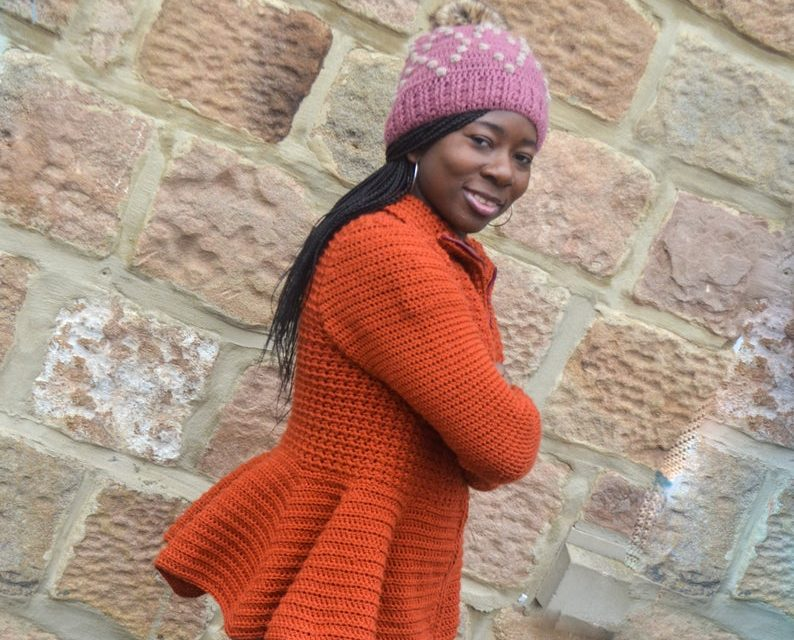 Crochet a Colorful Cardigan With a Perky Peplum … Great For Beginners, Pattern Offers 9 Sizes!
