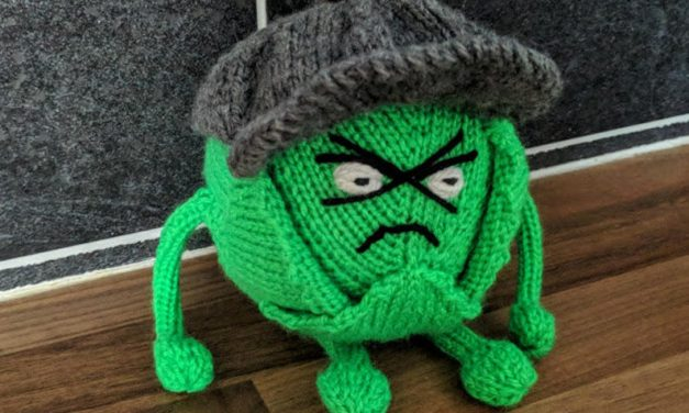 Knit a 'Russell Sprout Leafy Blinder' … He's Hilarious!
