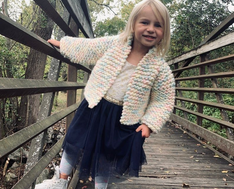 Knit a Beginner-Friendly Top-Down Cropped Sweater … Pattern Available in Both Kid & Adult Sizes