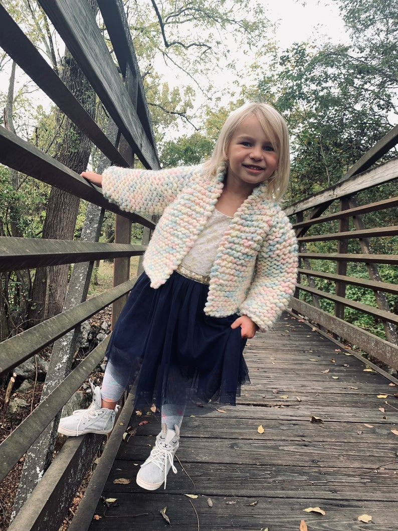 Knit a Beginner-Friendly Top-Down Cropped Sweater ... Pattern Available in Both Kid & Adult Sizes