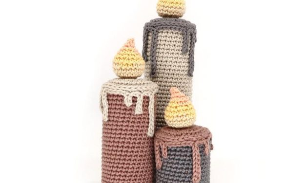 Crochet a Set of Amigurumi Candles, The Dripping Wax is a Nice Touch!
