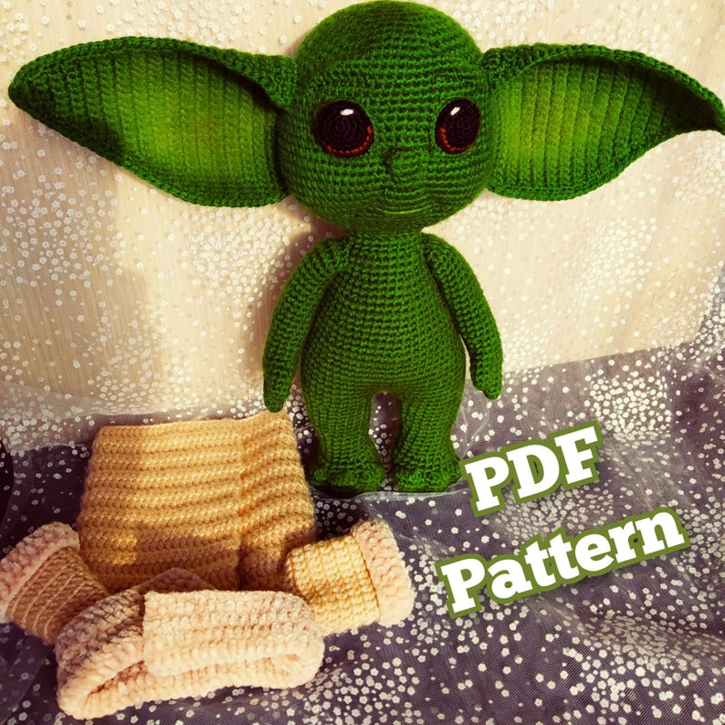 The Best Baby Yoda Patterns For Makers Who Crochet! Dolls, Booties, Hats, Ornaments, Amigurumi and More ...