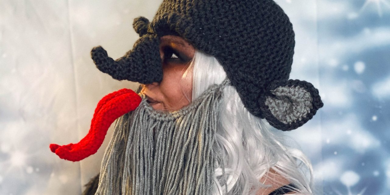 Crochet a Quirky Krampus Cosplay For Christmas … He KNOWS When You've Been BAD.