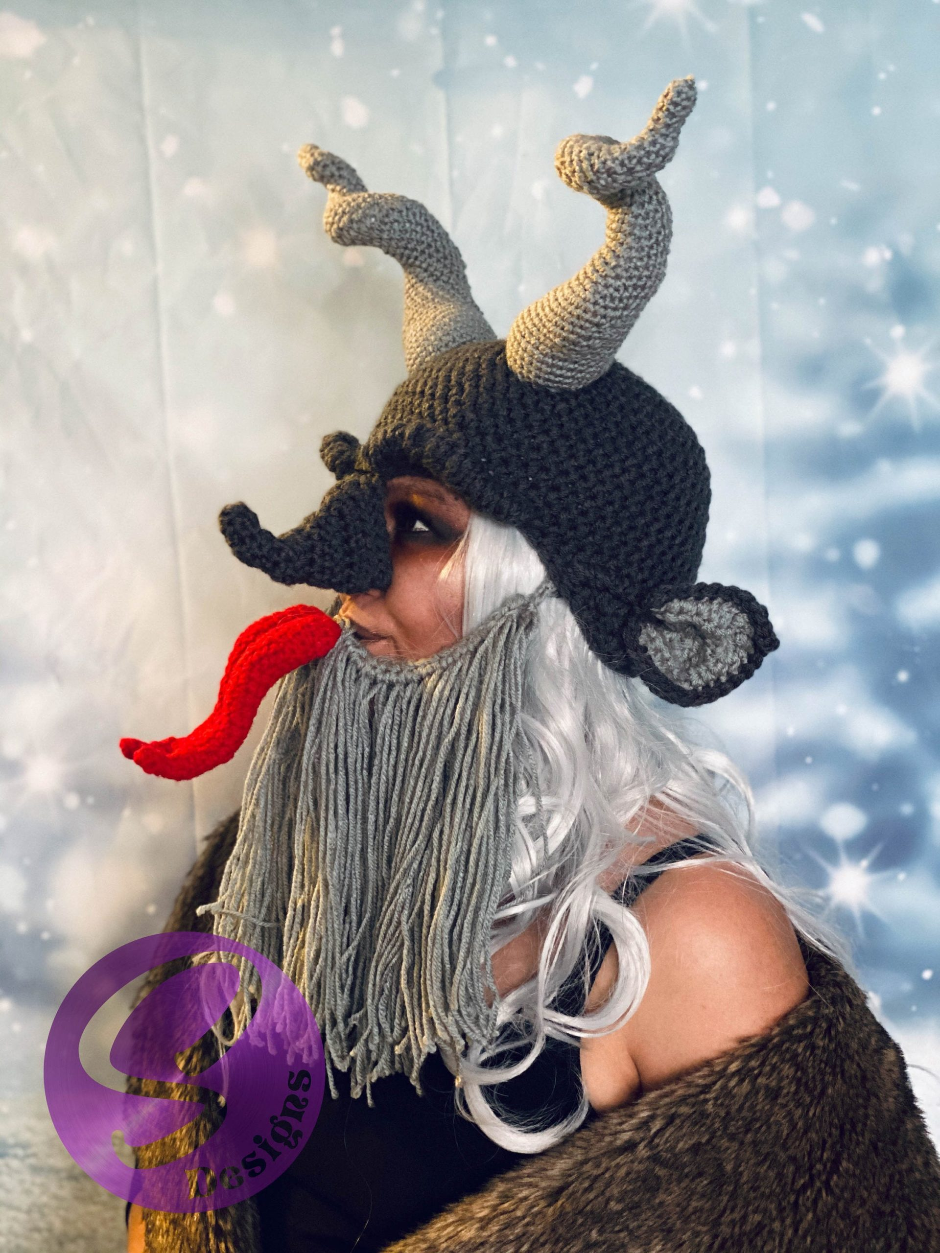 Crochet a Quirky Krampus Cosplay For Christmas ... He KNOWS When You've Been BAD.