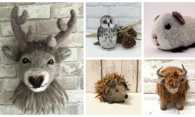 Designer Spotlight: Beautiful Knitting and Needle Felting Kits Featuring Your Favorite Furry Critters