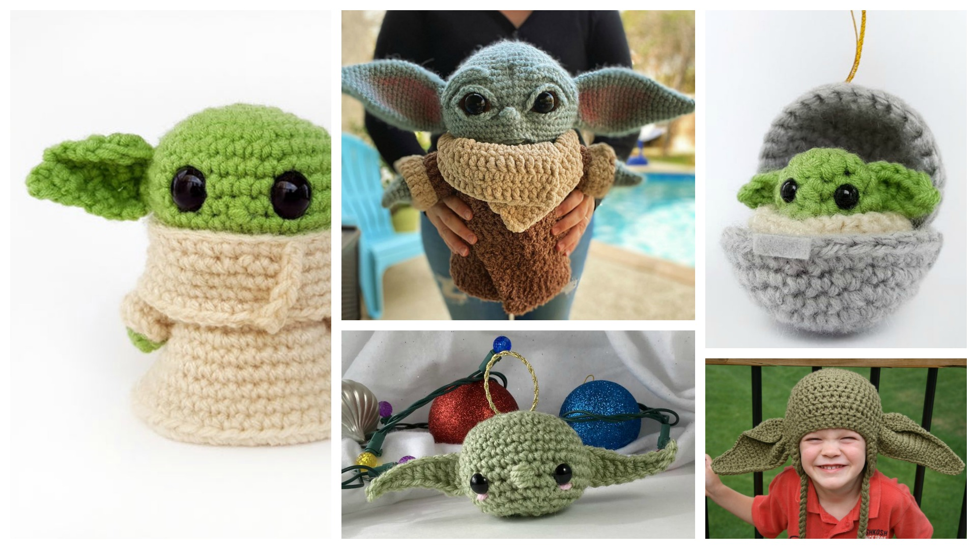 How to Crochet Baby Yoda - A Free Amigurumi Pattern - Sarah Maker | 1080x1920