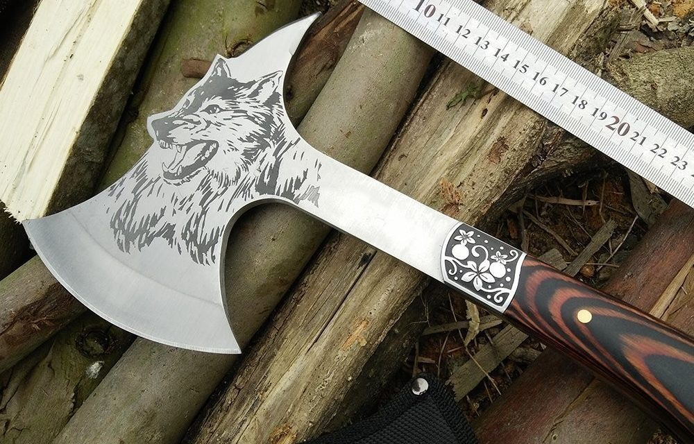 Special For KnitHacker Readers! Save 35% on a Wolf-Themed CoolPlus Camping Hatchet, Makes a Great Gift!
