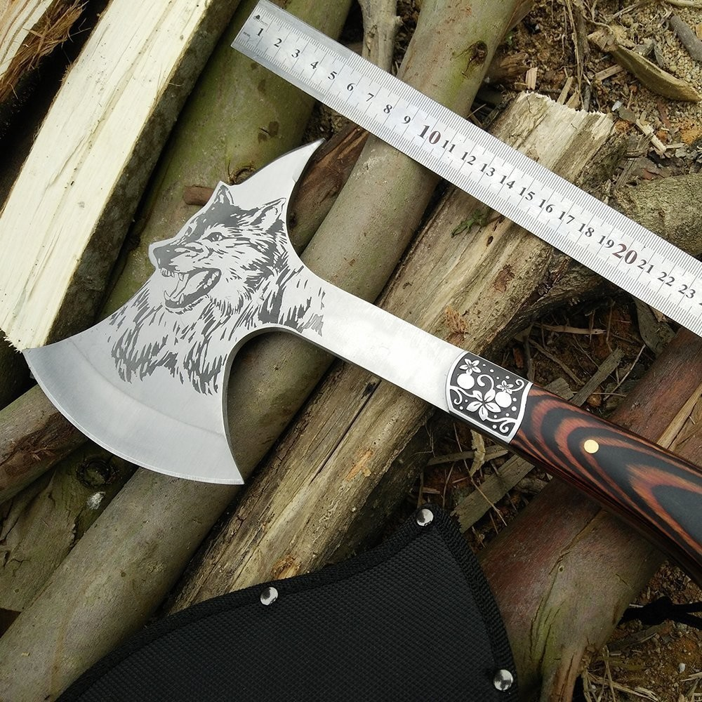 Special For KnitHacker Readers! Save 35% on a Wolf-Themed CoolPlus Camping Hatchet, Makes a Great Gift for a Hiker