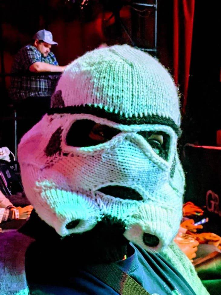 Katie Freeman's Knitted Stormtrooper Mask Is The Best Thing You'll See Today, You Can Go About Your Business ...