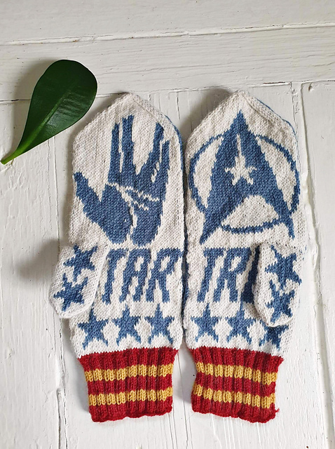 Knit a Pair of Star Trek-Inspired Mittens Featuring Spock, Designed By Lotta Lundin