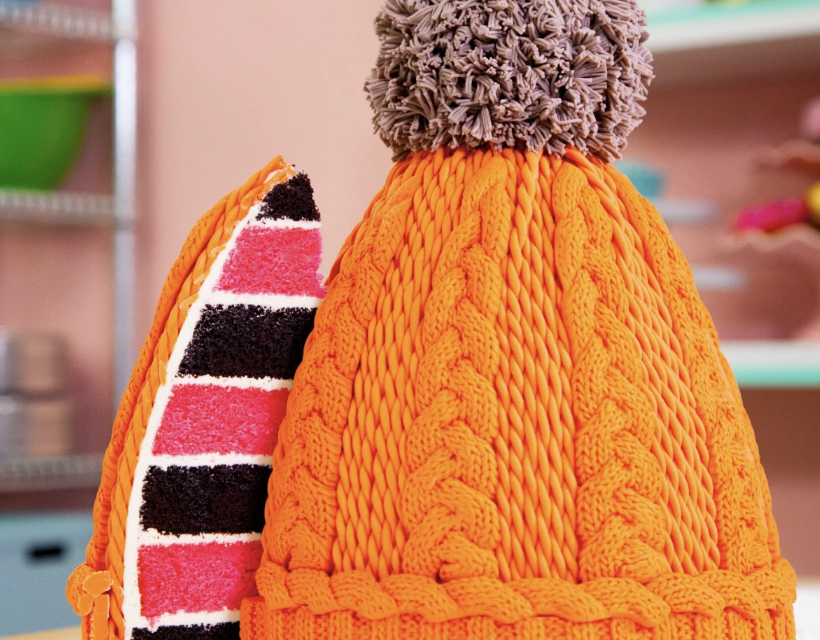 Yes, You CAN Bake a Cake That Looks Like Exactly Like A Cable-Knit Beanie … Must Be Seen To Be Believed!