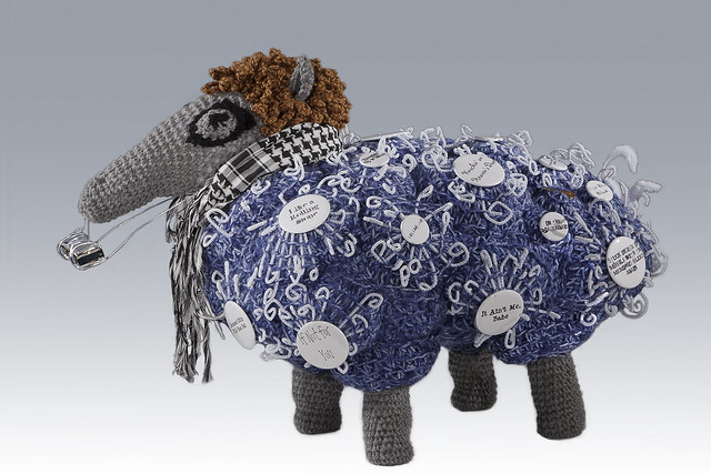 'Ancient But Beloved History: BAA-MERICA!' ... Fiber Art At Its Best By Leslie Blackmon