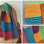 Knit an Early Riser, a Must-Make, Colorful & Stripey Log Cabin Blanket