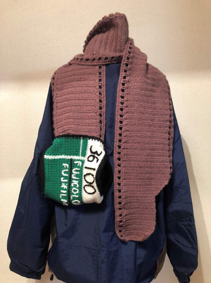 Fuji Film Lover Crochets Clever Scarf As Homage To Iconic Brand