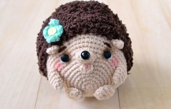 Crochet a Hedgehog Amigurumi Designed By amiguruMEI For Craft Passion