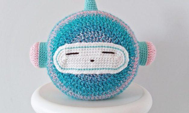 Crochet a Charming Robot Plushie Pillow