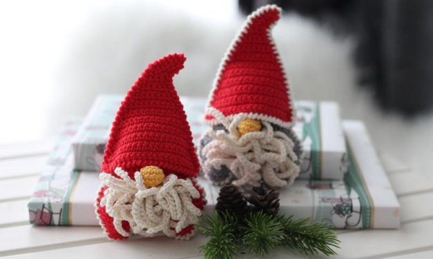 Crochet a Christmas Gnome Ornament … Super Cute and Quick To Work Up!