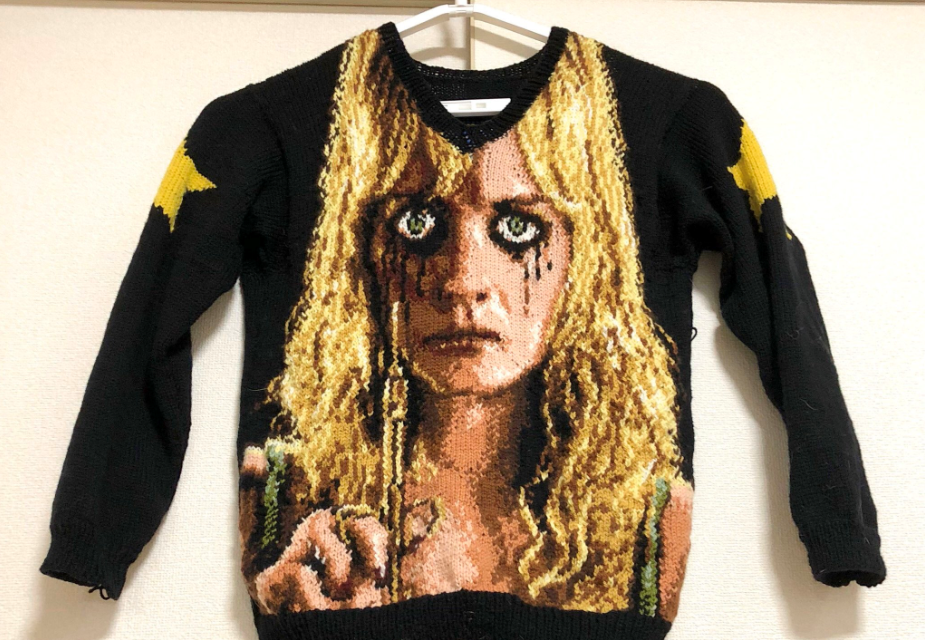 Check Out This This Knitted PLANET TERROR Sweater … 'You Might Feel a Little Prick.'